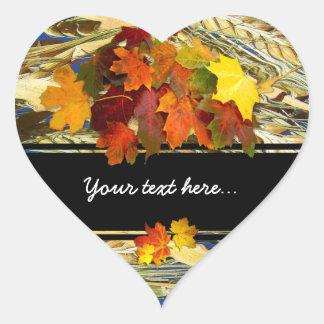 Autumn ~  Heart Sticker