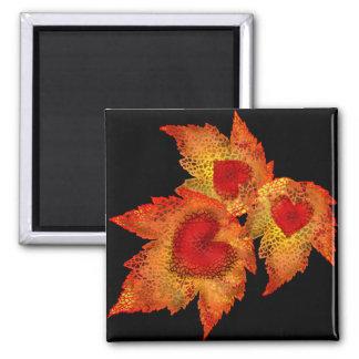 Autumn Hearts Black Magnet