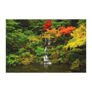 Autumn, Heavenly Falls Stretched Canvas Print