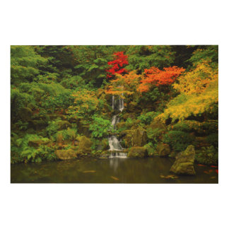 Autumn, Heavenly Falls Wood Canvases