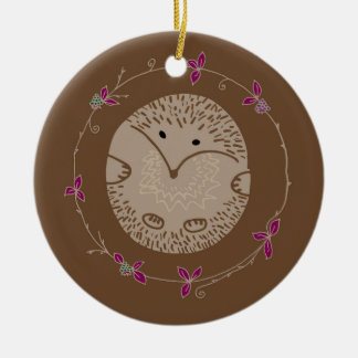 Autumn hedgehog christmas ornament