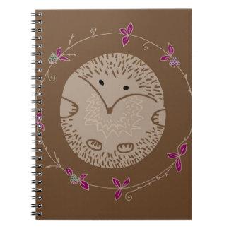 Autumn hedgehog notebook