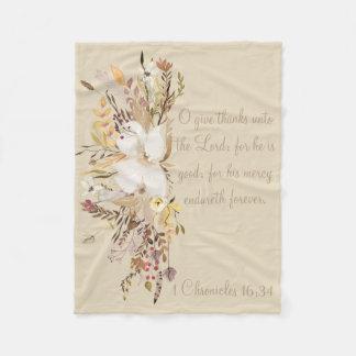 Autumn Home Collection Scripture Throw Fleece Blanket