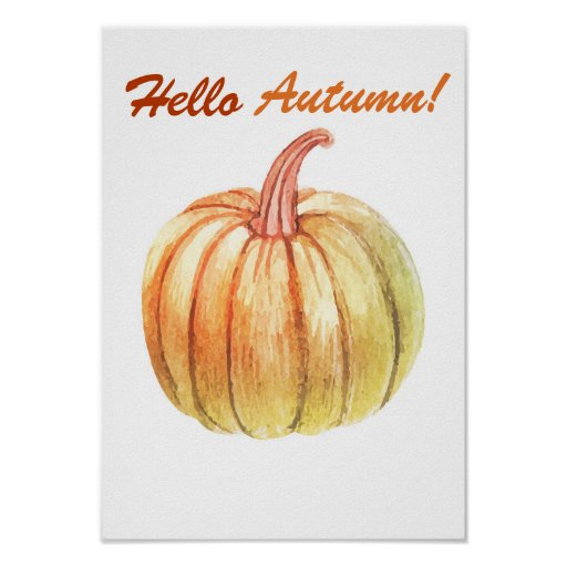 Autumn home decor poster