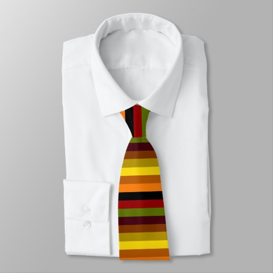 Autumn Horizontal Stripes Tie