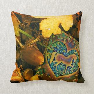 Autumn Horse Cushion
