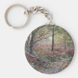 Autumn Impressions Basic Round Button Key Ring