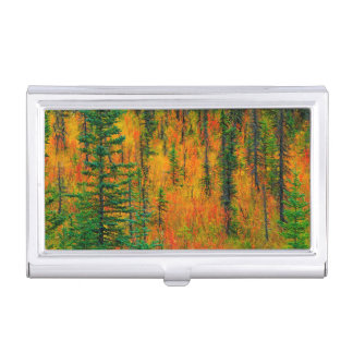 Autumn in a meadow business card holder