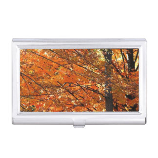 Autumn In A Park Business Card Holder