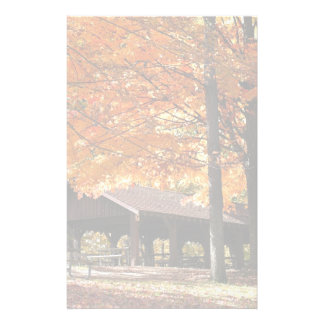 Autumn In A Park Custom Stationery