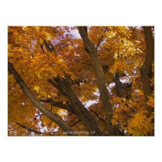 Autumn in Blacksburg, Virginia Poster