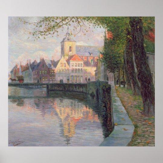 Autumn in Bruges Poster