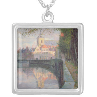 Autumn in Bruges Silver Plated Necklace