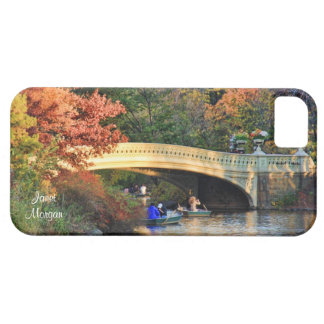 Autumn in Central Park: Boaters by Bow Bridge  #01 Case For The iPhone 5