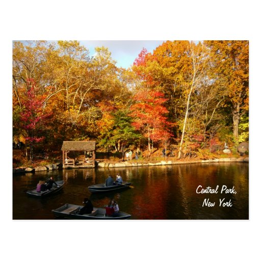 Autumn in Central Park (color) Post Card