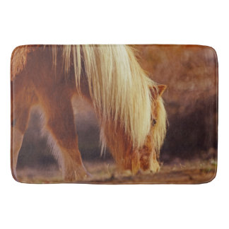 Autumn in Color Bath Mat Western Horse