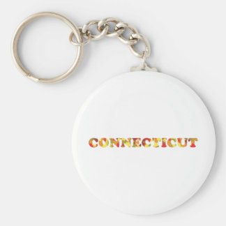 Autumn in Connecticut Basic Round Button Key Ring