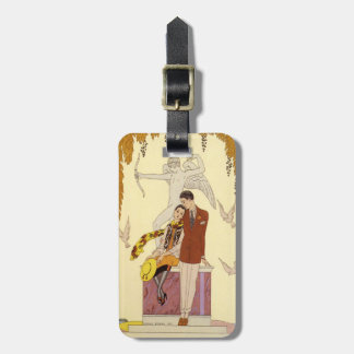 Autumn in France Art Deco Luggage Tag