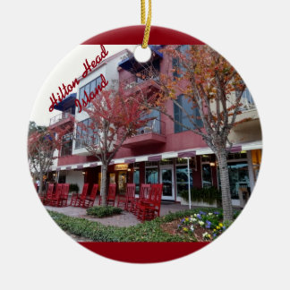 Autumn in Hilton Head Island - Harbour Town Shops Christmas Ornament