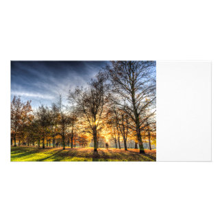 Autumn in London Personalized Photo Card