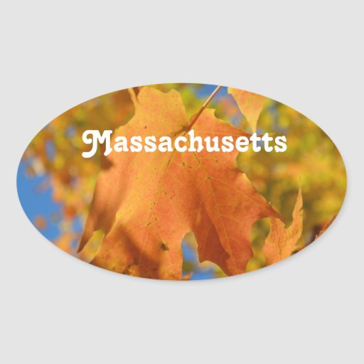 Autumn in Massachusetts Sticker