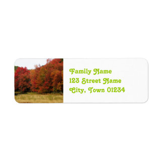 Autumn in New England Return Address Label