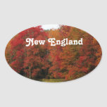 Autumn in New England Oval Sticker