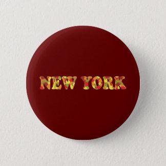 Autumn in New York 6 Cm Round Badge