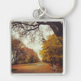 Autumn in New York City Riverside Park NYC Photo Key Ring