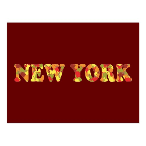 Autumn in New York Post Card