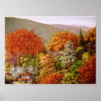 Autumn in Paraskevi Valley Poster