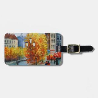 Autumn in Paris Luggage Tag