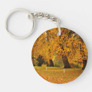 Autumn In Park Key Ring
