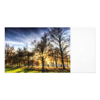 Autumn in Pastels Personalised Photo Card