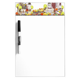 Autumn In The City Dry-Erase Whiteboards