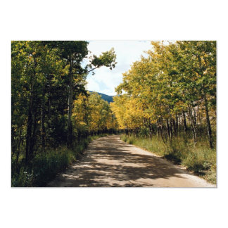 Autumn in the Colorado Mountains, Colorado, U.S.A. Personalized Announcement