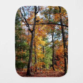Autumn In The Forest Burp Cloth