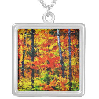 Autumn in the Forest - Painting Art Necklace