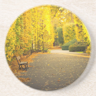 Autumn in the park in Gdansk, Poland Coaster