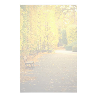 Autumn in the park in Gdansk, Poland Stationery