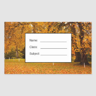 Autumn in the park rectangular sticker