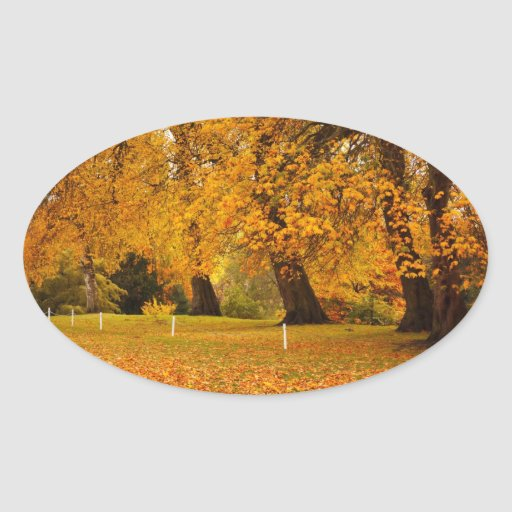 Autumn in the park stickers