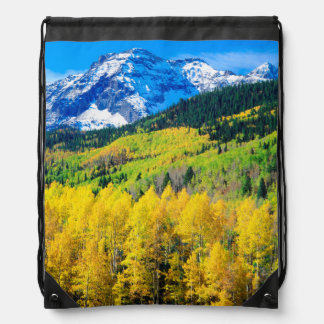 Autumn in the Rockies Drawstring Bag