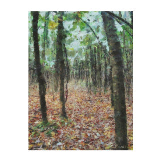 Autumn in the Woods Wrapped Canvas Gallery Wrapped Canvas