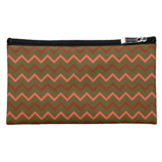Autumn Inspired Chevron Cosmetic Bag
