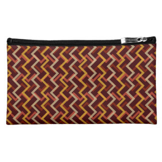 Autumn Inspired Chevron Makeup Bag