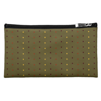 Autumn Inspired Polka Dots Cosmetic Bag
