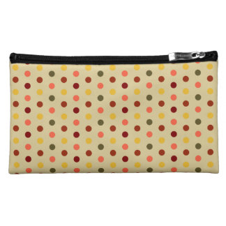 Autumn Inspired Polka Dots Makeup Bag