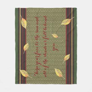 Autumn Inspired Quote Fleece Blanket