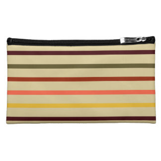 Autumn Inspired Stripes Cosmetic Bag